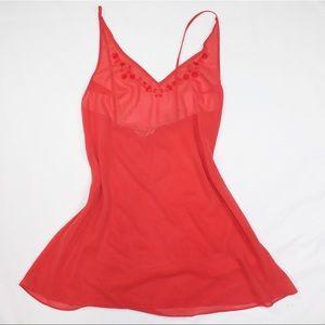Victoria Secret Mesh coral red Top